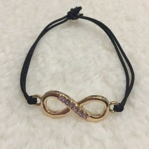 Jewelry - Gold plated Infinity Bracelet w/ Purple Crystals